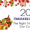 Thanksgiving Day 2013: The Right Time To Thank Our Customers