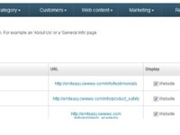 Static pages management