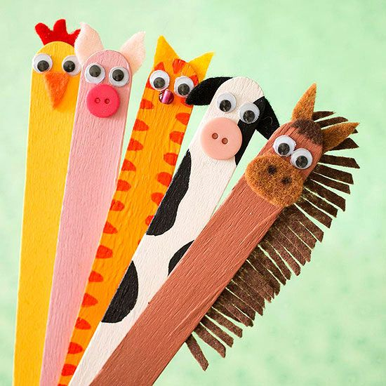 Ice Cream Stick Farm Animals